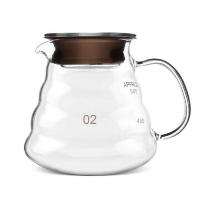 COFFEE POT GLASS CLEAR MID